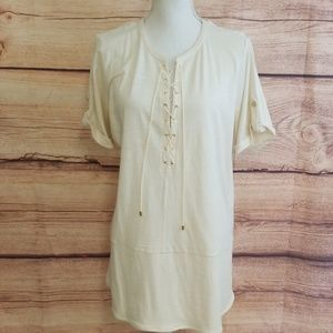 NWT Lauren Woman lace up top